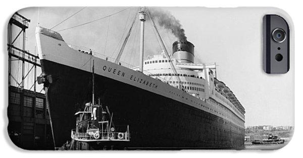 Queen Elizabeth iPhone Cases - RMS Queen Elizabeth iPhone Case by Dick Hanley and Photo Researchers