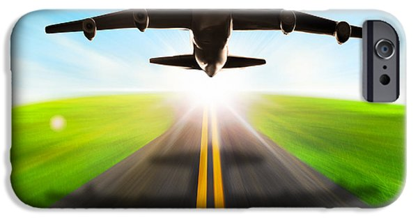 Freedom iPhone Cases - Road And Plane iPhone Case by Setsiri Silapasuwanchai