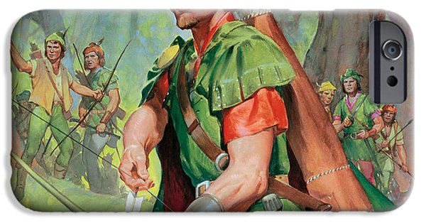 Marian iPhone Cases - Robin Hood iPhone Case by James Edwin McConnell