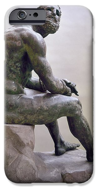 Boxer Photographs iPhone Cases - Rome Boxer Sculpture iPhone Case by Granger