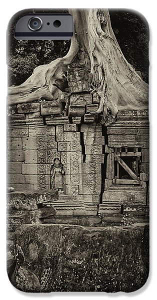 IPhone 6 Case featuring the photograph Roots In Ruins 5, Ta Prohm, 2014 by Hitendra SINKAR