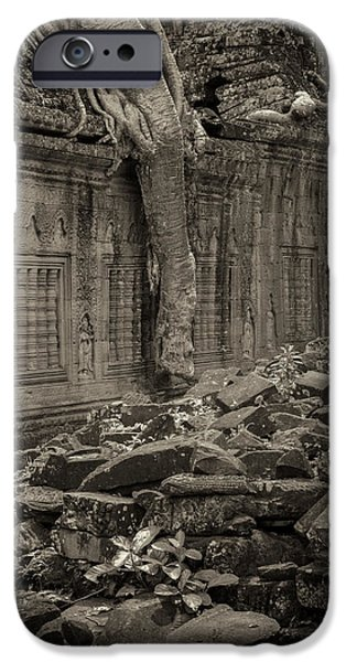 IPhone 6 Case featuring the photograph Roots In Ruins 6, Ta Prohm, 2014 by Hitendra SINKAR