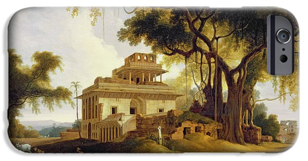Remains iPhone Cases - Ruins of the Naurattan iPhone Case by Thomas Daniell