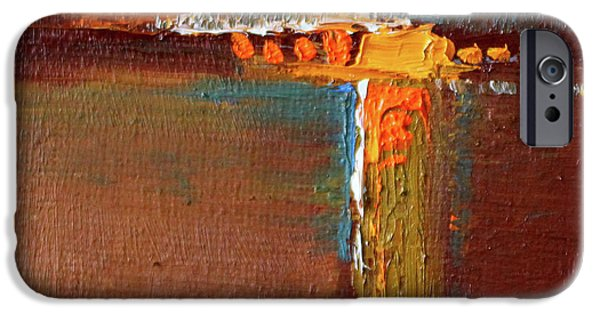 IPhone 6 Case featuring the painting Rust Abstract Painting by Nancy Merkle