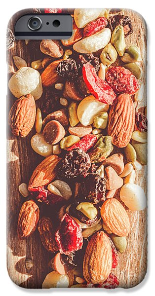 Sunflower Seeds iPhone 6 Case - Rustic Dried Fruit And Nut Mix by Jorgo Photography - Wall Art Gallery