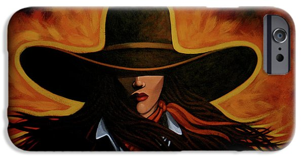 Cowgirl iPhone Cases - Rusty iPhone Case by Lance Headlee