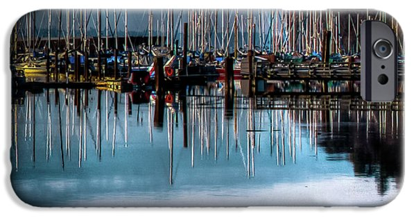 Sailboats At Sunset IPhone 6 Case by David Patterson