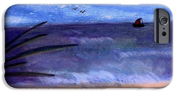 Seagull Pastels iPhone Cases - Sailing iPhone Case by Melvin Moon