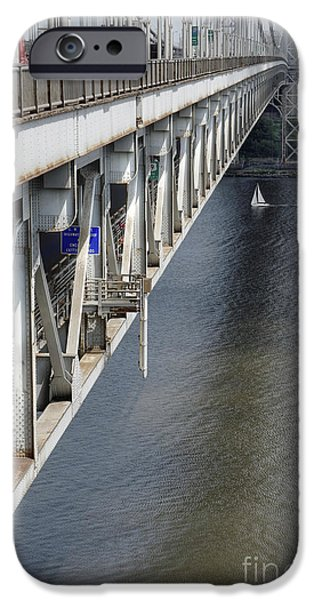 Hudson River iPhone Cases - Sailing on the Hudson iPhone Case by David Bearden