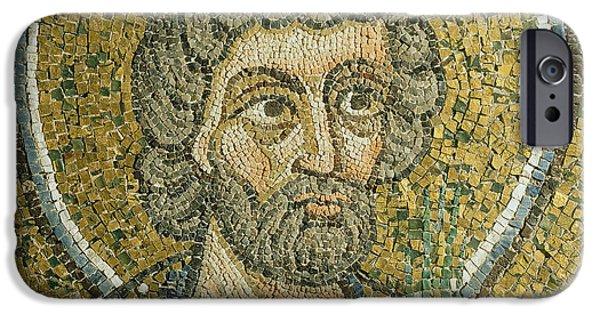 Byzantine iPhone Cases - Saint Barbaziano iPhone Case by Italian School