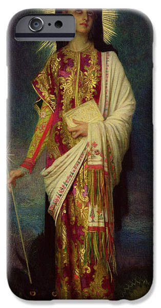 Miracle iPhone Cases - Saint Margaret Slaying the Dragon iPhone Case by Antoine Auguste Ernest Herbert