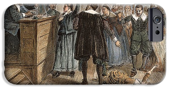 Discrimination iPhone Cases - Salem Witch Trials, 1692 iPhone Case by Granger