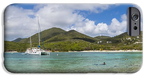 IPhone 6 Case featuring the photograph Salt Pond Bay Panoramic by Adam Romanowicz