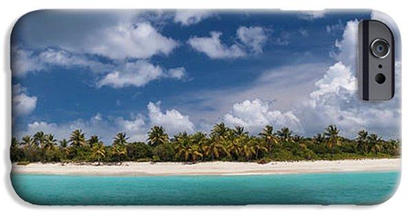 IPhone 6 Case featuring the photograph Sandy Cay Beach British Virgin Islands Panoramic by Adam Romanowicz