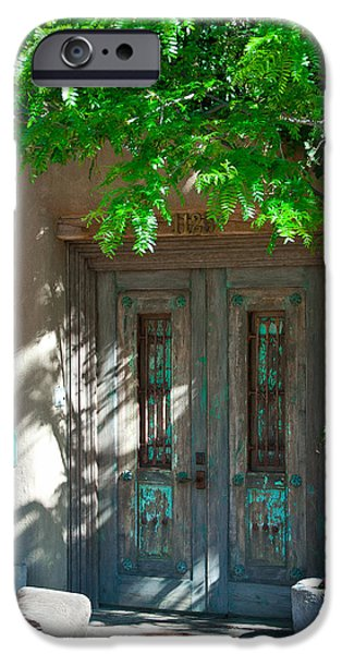 David Patterson iPhone Cases - Santa Fe Door iPhone Case by David Patterson