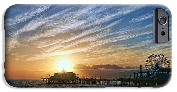 Carnival iPhone Cases - Santa Monica Pier iPhone Case by Eddie Yerkish