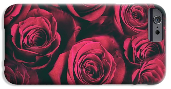 IPhone 6 Case featuring the photograph Scarlet Roses by Jessica Jenney