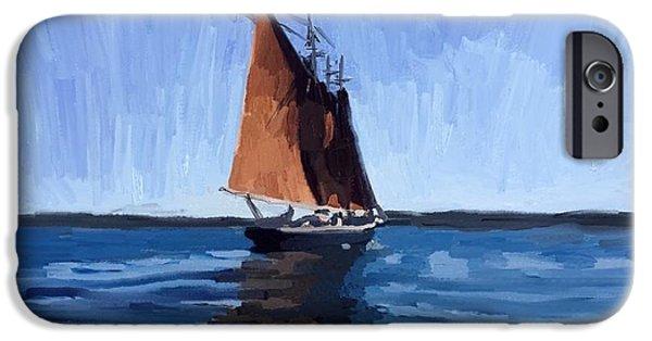 Schooner Roseway In Gloucester Harbor IPhone 6 Case by Melissa Abbott