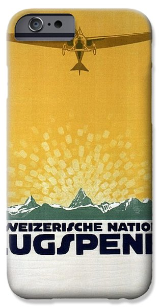 Donation iPhone 6 Case - Schweizerische Nationale Flugspende - Flight Donation - Retro Travel Poster - Vintage Poster by Studio Grafiikka