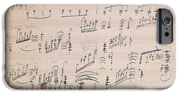 20th iPhone 6 Case - Score Sheet Of Moonlight Sonata by Ludwig van Beethoven