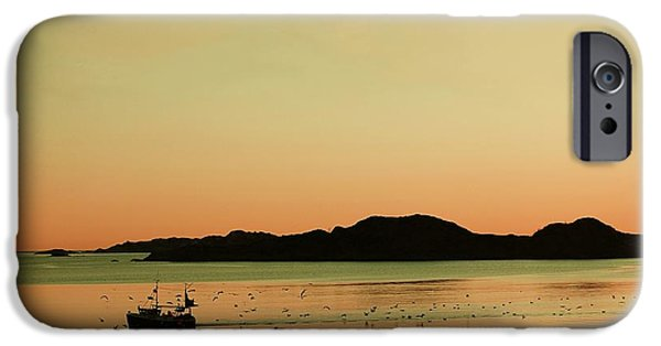 Norway iPhone Cases - Sea after sunset iPhone Case by Sonya Kanelstrand