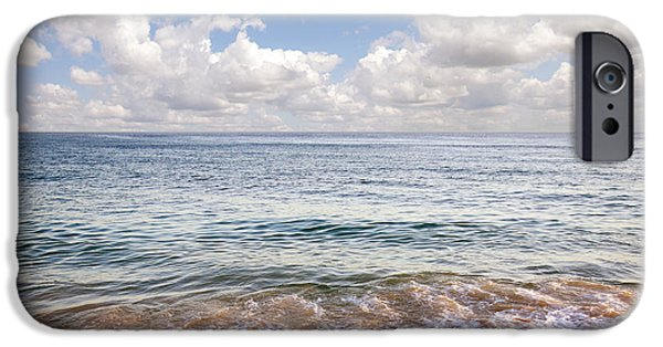 Sand iPhone Cases - Seascape iPhone Case by Carlos Caetano