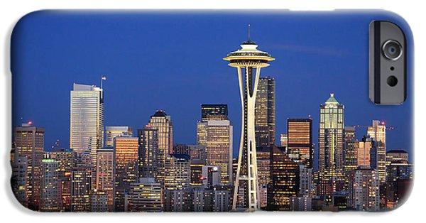 Seattle At Dusk IPhone 6 Case by Adam Romanowicz