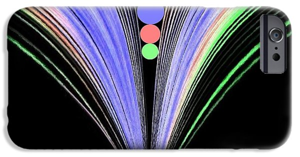 Abstract Digital Digital Art iPhone Cases - Security iPhone Case by Will Borden