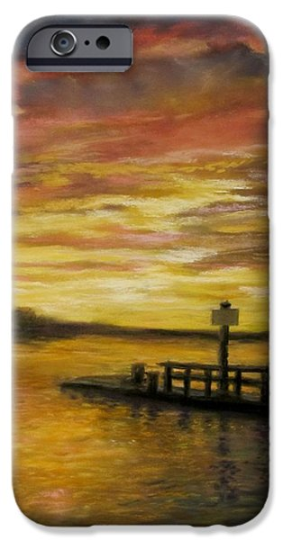 Jack Skinner iPhone Cases - Sesuit Harbor at Sunset iPhone Case by Jack Skinner