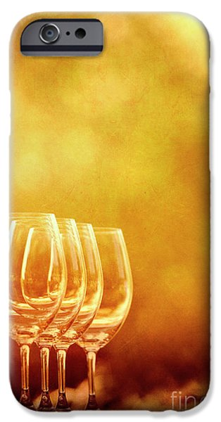 Table Wine iPhone Cases - Set For Four iPhone Case by Margie Hurwich