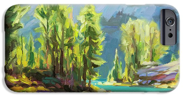 Lake iPhone 6 Case - Shades Of Turquoise by Steve Henderson