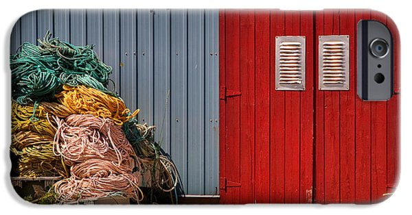 Canada Photograph iPhone Cases - Shed doors and tangled nets iPhone Case by Louise Heusinkveld