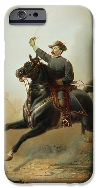 Tear Paintings iPhone Cases - Sheridans Ride iPhone Case by Thomas Buchanan Read