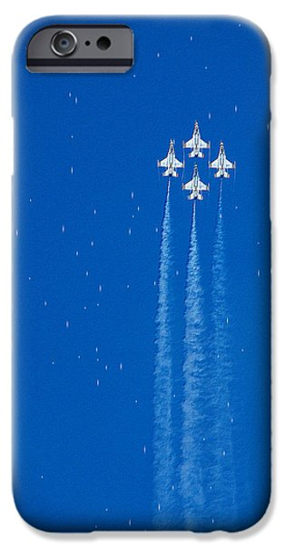 Jet Star iPhone Cases - Shooting Stars iPhone Case by Paul Ge