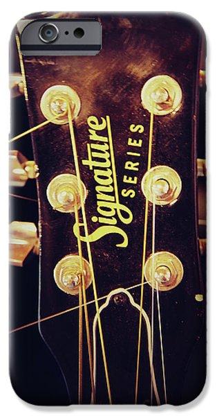Key Signature iPhone Cases - Signature Guitar iPhone Case by Toni Hopper