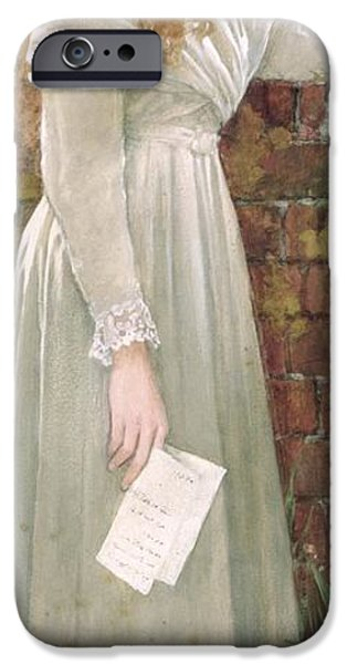 Tear Paintings iPhone Cases - Silent Sorrow iPhone Case by Walter Langley