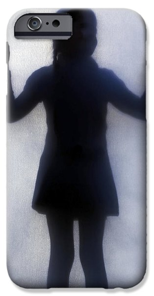 Young Photographs iPhone Cases - Silhouette Of A Girl iPhone Case by Joana Kruse