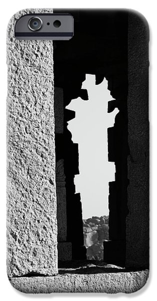 IPhone 6 Case featuring the photograph Silhouette Of Pillars, Hampi, 2017 by Hitendra SINKAR