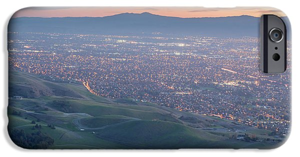 b5742a6f9a8 Diablo Valley iPhone 6 Case - Silicon Valley And Green Hills At Dusk.  Monument Peak