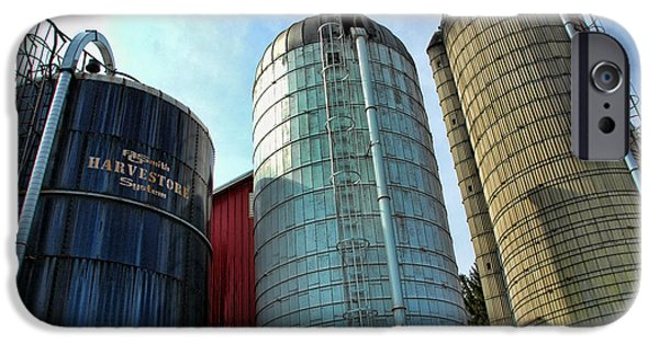 Silos iPhone Cases - Silos iPhone Case by Paul Ward