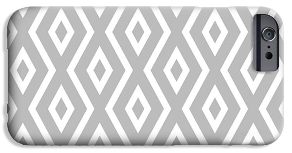 Illusion iPhone 6 Case - Silver Pattern by Christina Rollo