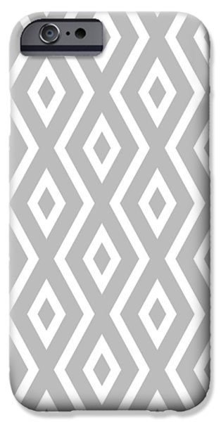 Pattern iPhone 6 Case - Silver Pattern by Christina Rollo