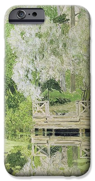 Overhang iPhone Cases - Silver White Willow iPhone Case by Aleksandr Jakovlevic Golovin