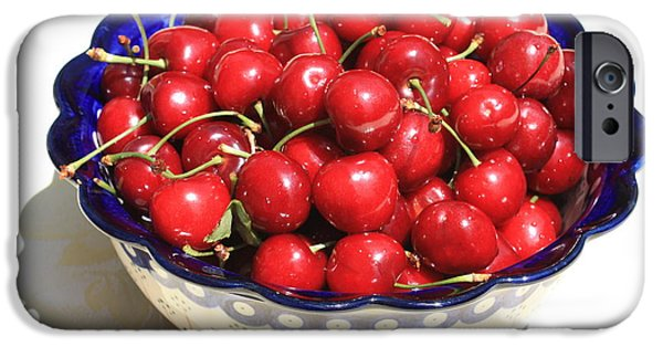 Fresh Produce iPhone Cases - Simply a Bowl of Cherries iPhone Case by Carol Groenen