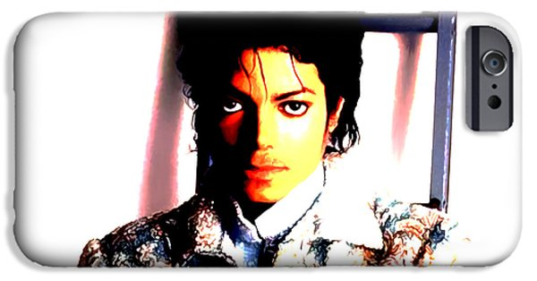 Michael Mixed Media iPhone Cases - Sir Michael Jackson iPhone Case by Brian Reaves
