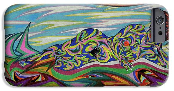 Outer Space Pastels iPhone Cases - Sirene De Venus iPhone Case by Robert  SORENSEN