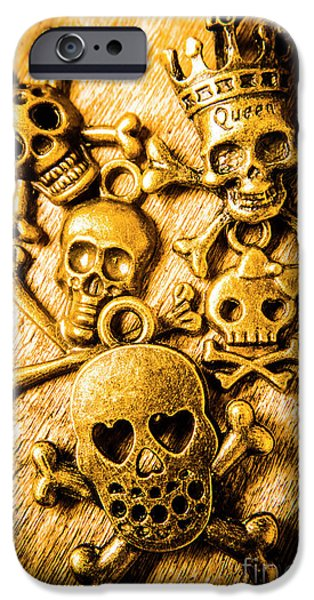 IPhone 6 Case featuring the photograph Skulls And Crossbones by Jorgo Photography - Wall Art Gallery