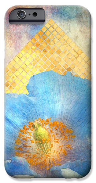Mosaic iPhone Cases - Sky Poppy iPhone Case by Aimee Stewart