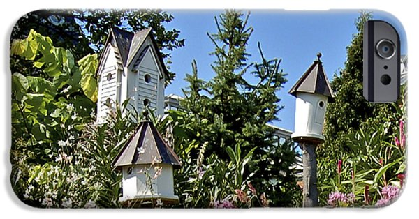 Smithsonian iPhone Cases - Smithsonian Birdhouses iPhone Case by Faith Harron Boudreau