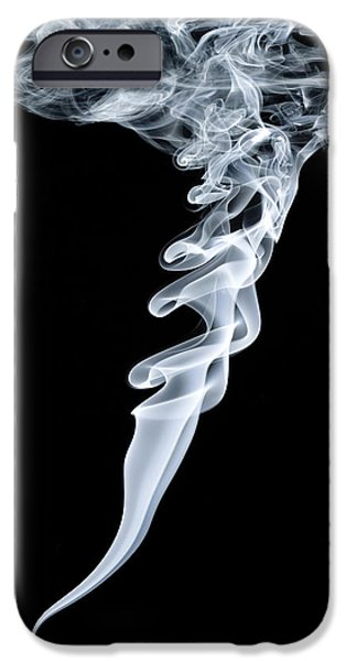 Vortex iPhone Cases - Smoke Patterns iPhone Case by Paul Rapson
